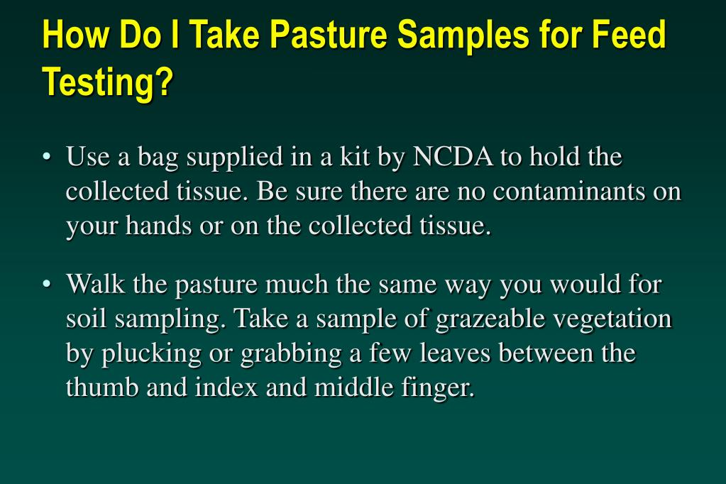 How Do I Take Pasture Samples for Feed Testing?