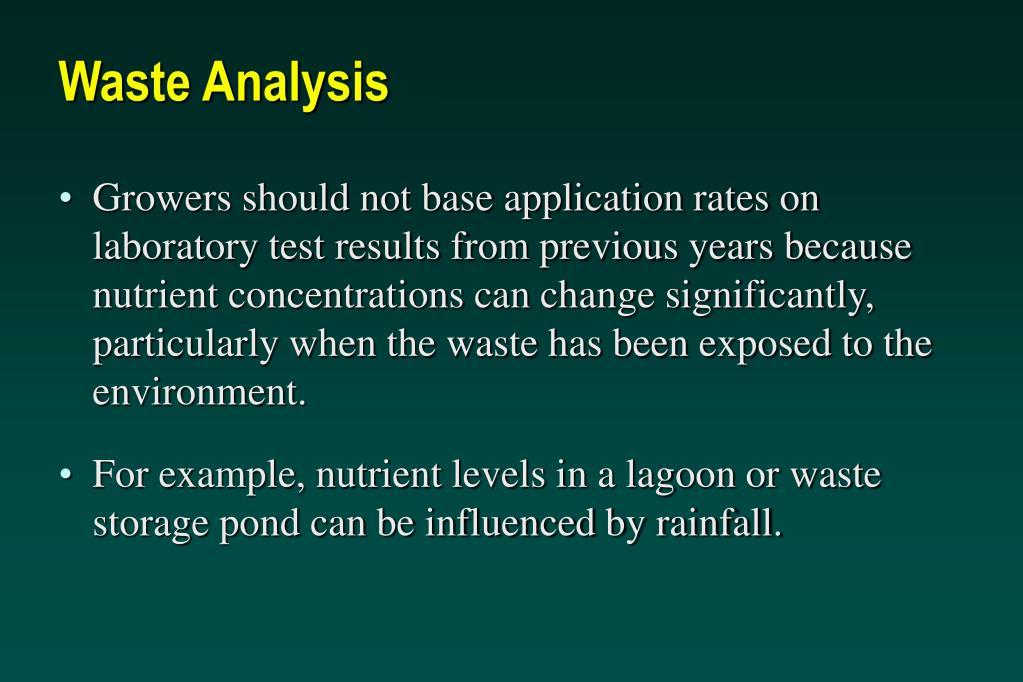 Waste Analysis