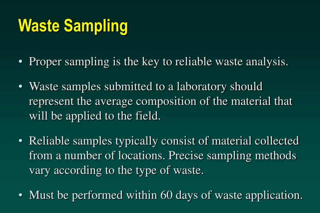 Waste Sampling