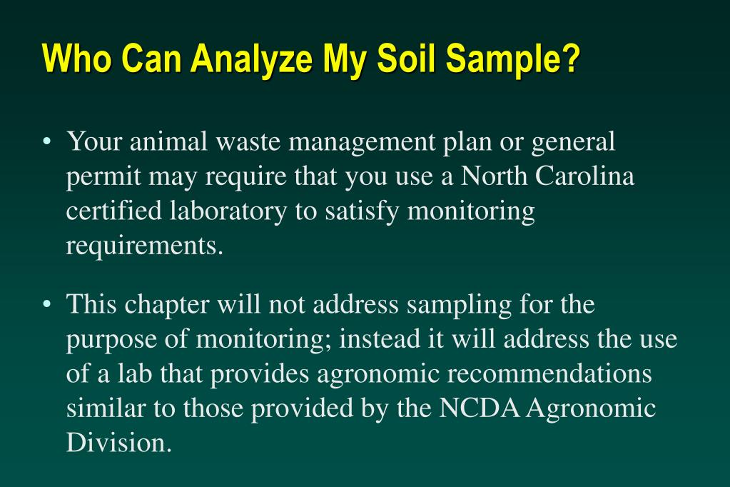 Who Can Analyze My Soil Sample?