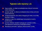 typowe cele wyceny c d