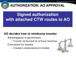 authorization ao approval