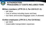 authorization processing ct costs included items