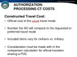 authorization processing ct costs