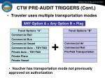 ctw pre audit triggers cont