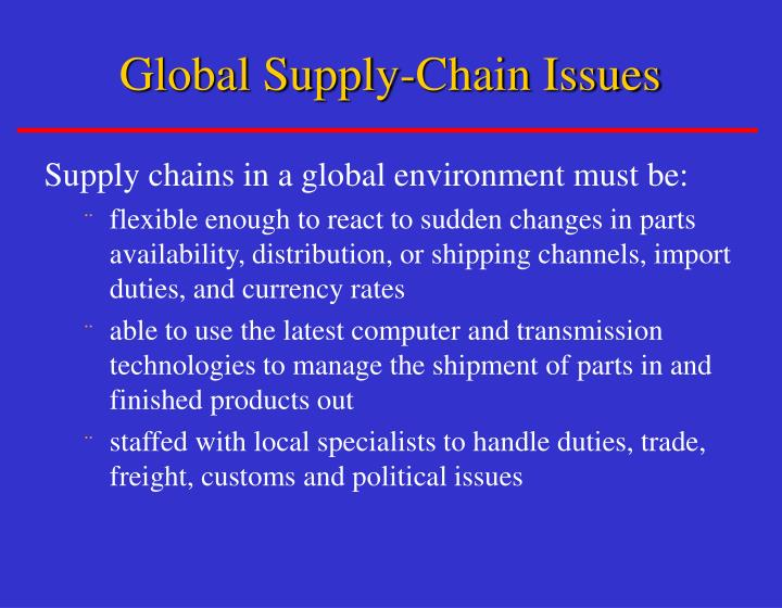 Global Supply-Chain Issues