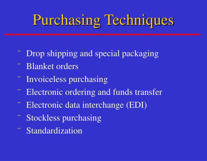 Purchasing Techniques