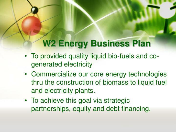 W2 energy business plan