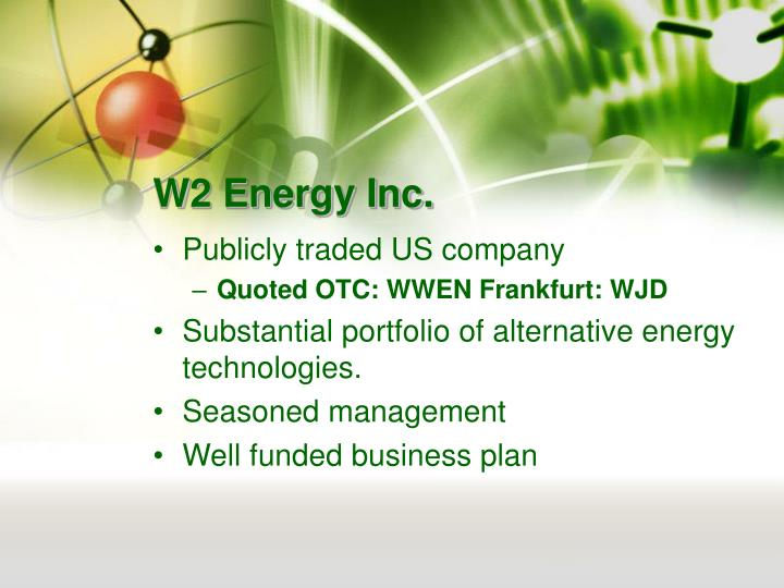 W2 energy inc1