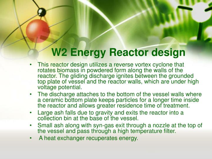 W2 Energy Reactor design