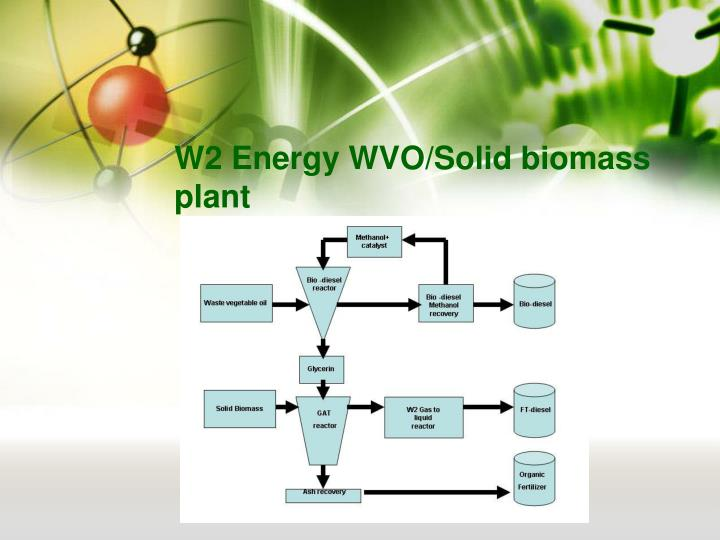 W2 Energy WVO/Solid biomass plant