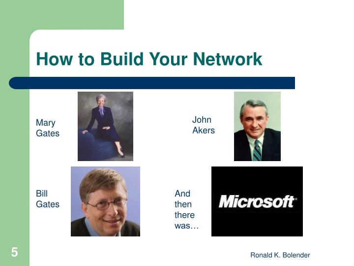 How to Build Your Network
