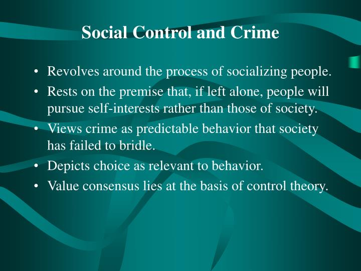 crime and the social process essay Social control theory assumes that people can see the advantages of crime and are capable of inventing and executing all sorts of criminal acts on the spot.