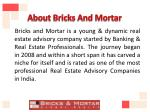 about bricks and mortar