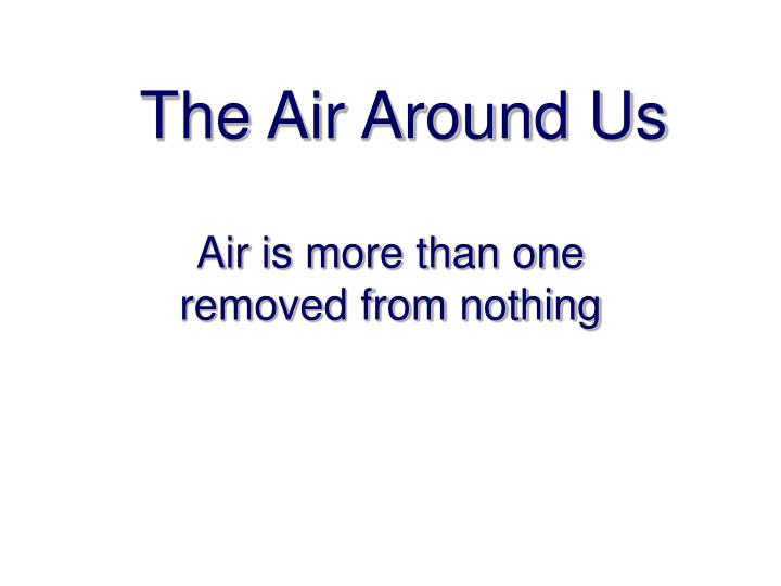 air around us As we go higher and higher, at high altitudes, amount of oxygen present in the atmosphere is determined by atmospheric pressure though the concentration of oxygen is 21% and is constant.