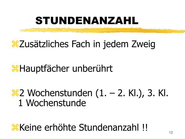 STUNDENANZAHL