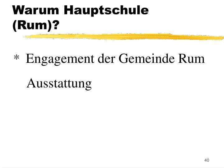 Warum Hauptschule (Rum)?