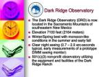 dark ridge observatory