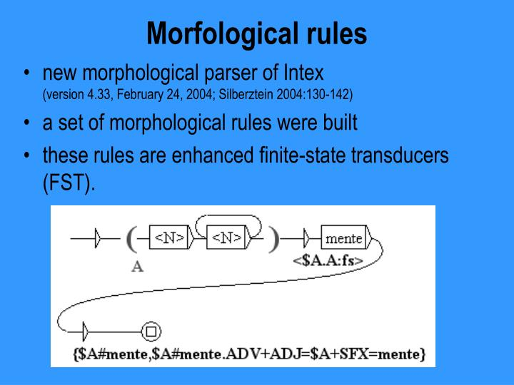 Morfological rules