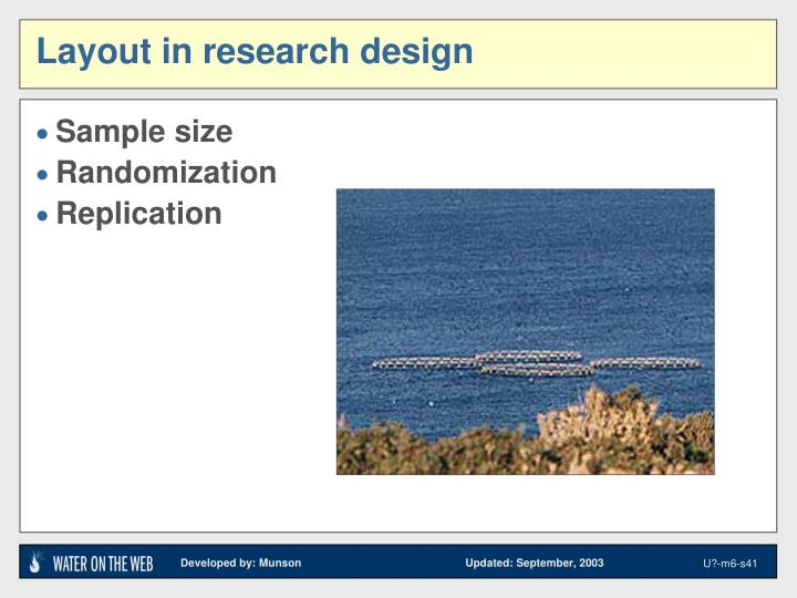 Layout in research design
