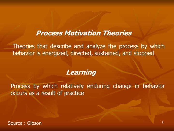 motivational theories and analysis