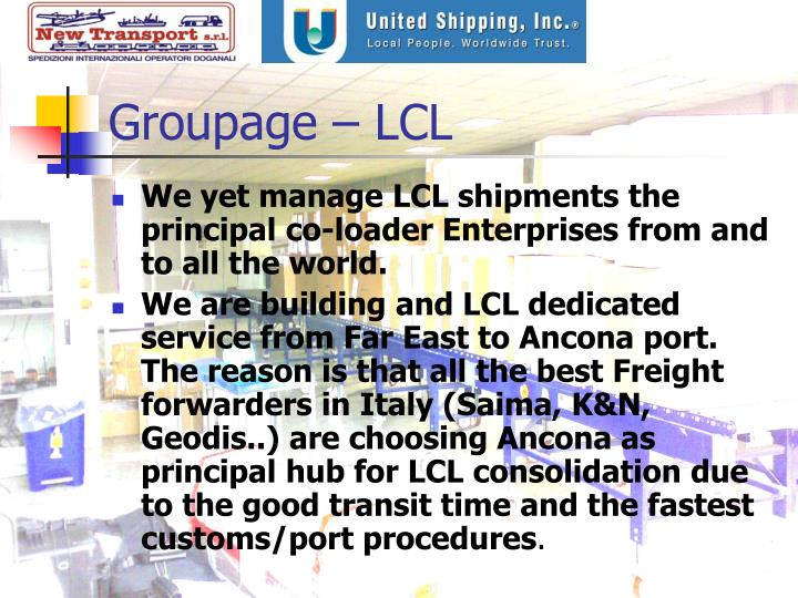 Groupage – LCL