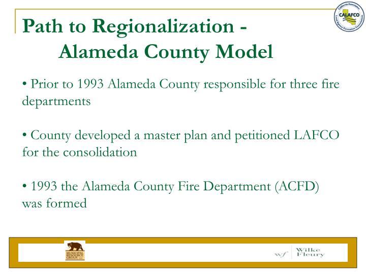 Path to Regionalization -