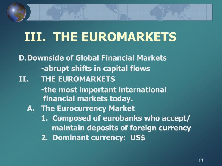 III.  THE EUROMARKETS