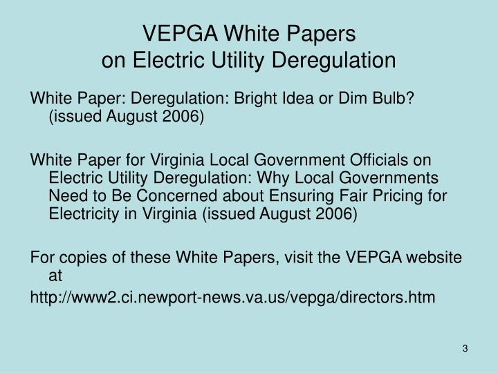 an analysis of the electrical utility deregulation process The movement toward deregulation is exposing as flawed the electric industry's decision to build nuclear power through an analysis of justice o'connor's opinion in eastern enterprises v apfel, which section iii explains deregulation, the current status of the deregulation process, and how.