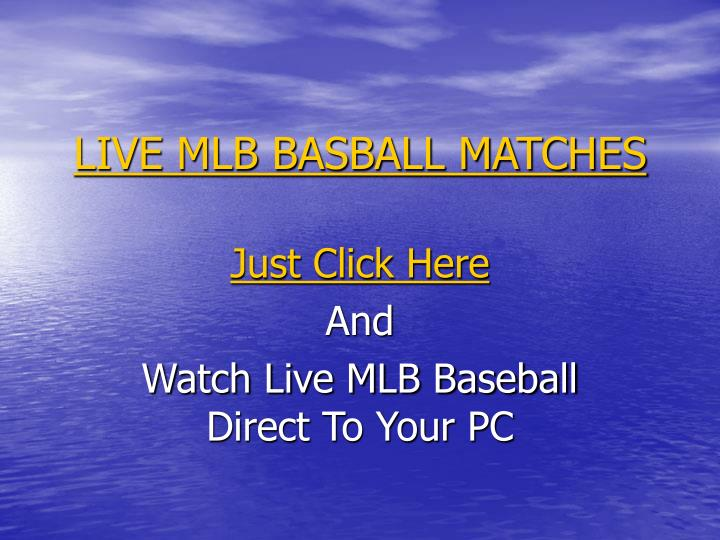 Live mlb basball matches