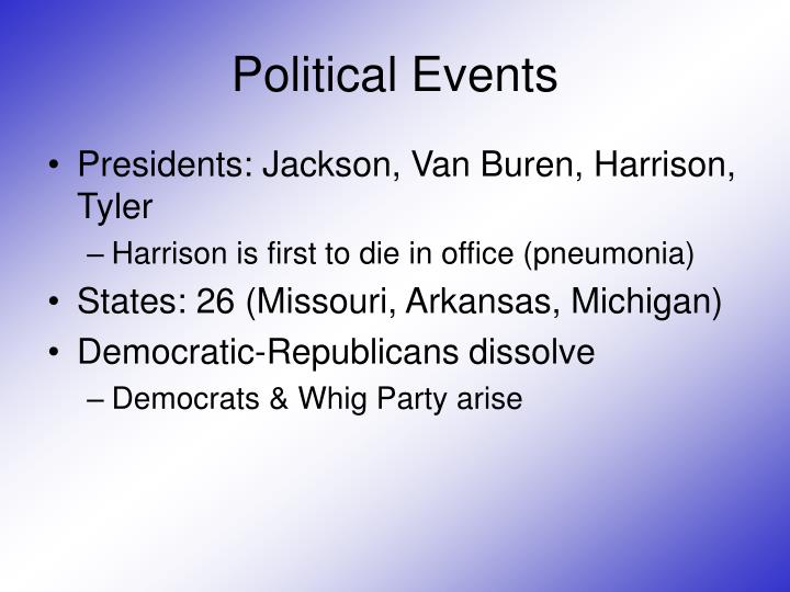 Political events