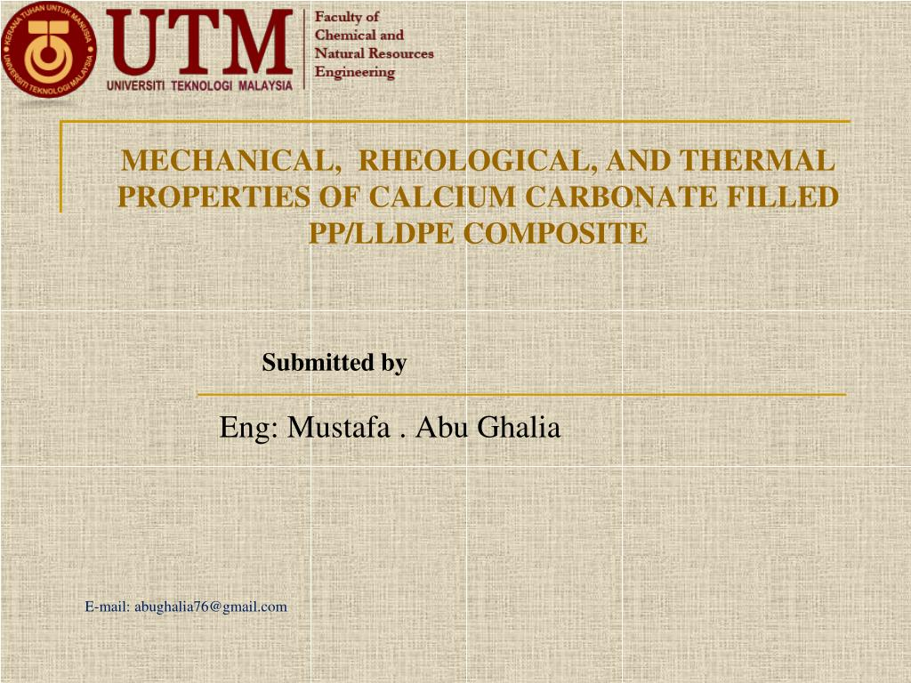 mechanical rheological and thermal properties of calcium carbonate filled pp lldpe composite l.