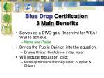 blue drop certification 3 main benefits