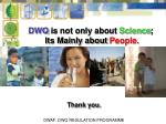 dwq is not only about science its mainly about people