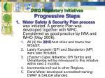 dwq regulatory initiatives progressive steps