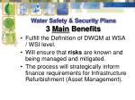 water safety security plans 3 main benefits
