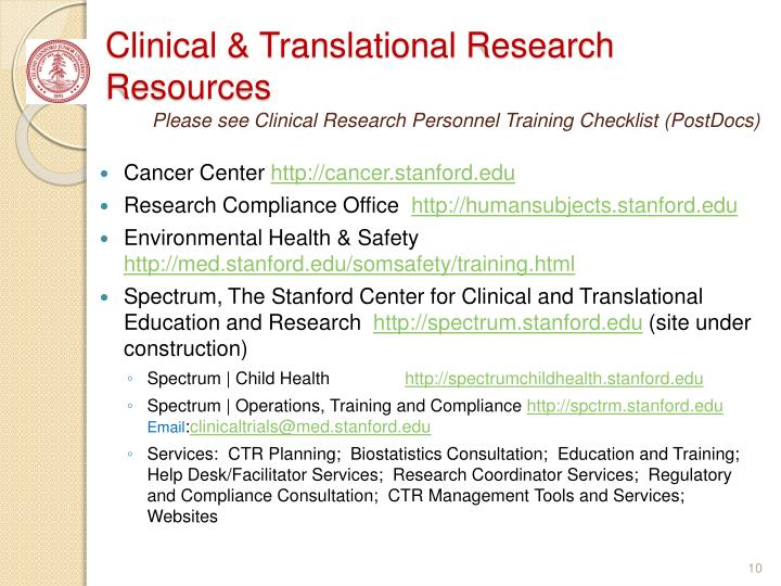 Clinical & Translational Research Resources