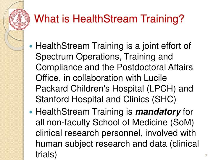 What is healthstream training