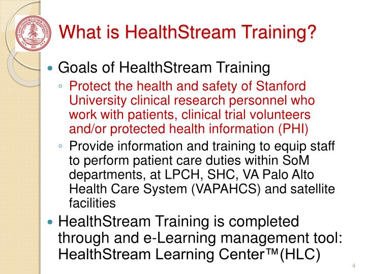 What is HealthStream Training?