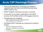 acute csp discharge process