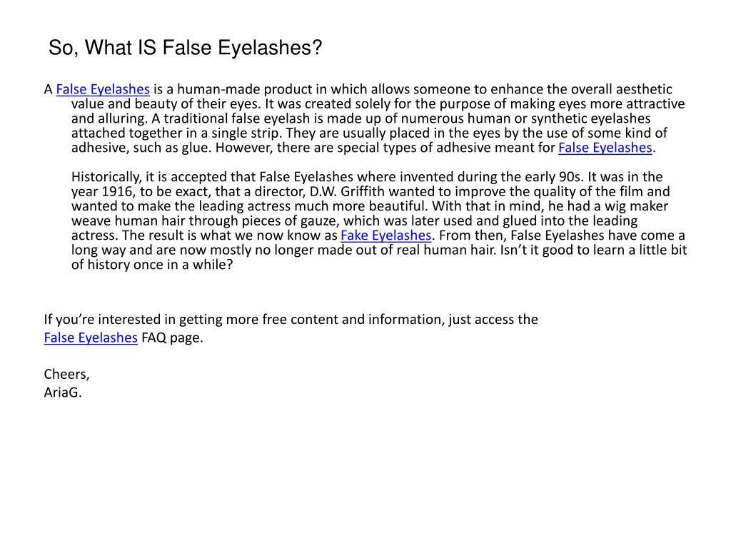 So, What IS False Eyelashes?
