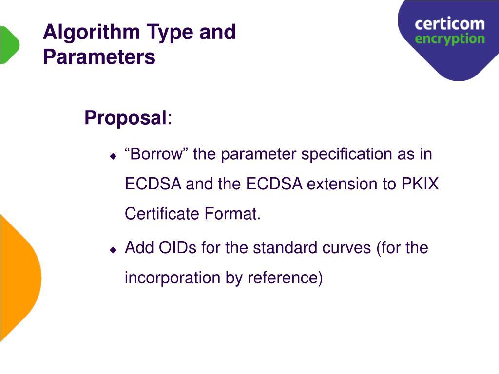 PPT - ECC X 509 Certificate Format PowerPoint Presentation