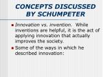 concepts discussed by schumpeter1