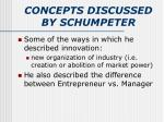 concepts discussed by schumpeter3