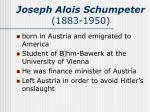joseph alois schumpeter 1883 1950