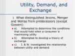 utility demand and exchange