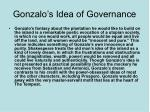 gonzalo s idea of governance