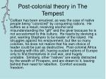 post colonial theory in the tempest1