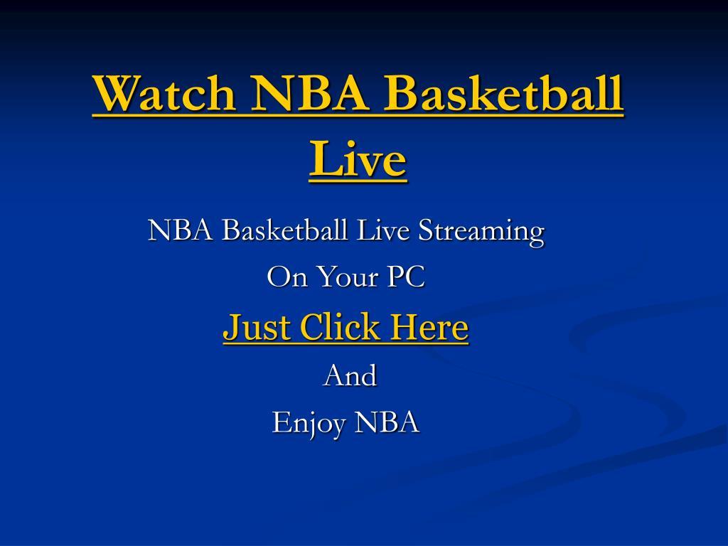 watch nba basketball live l.