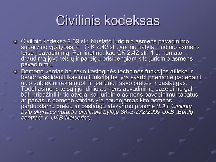 Civilinis kodeksas